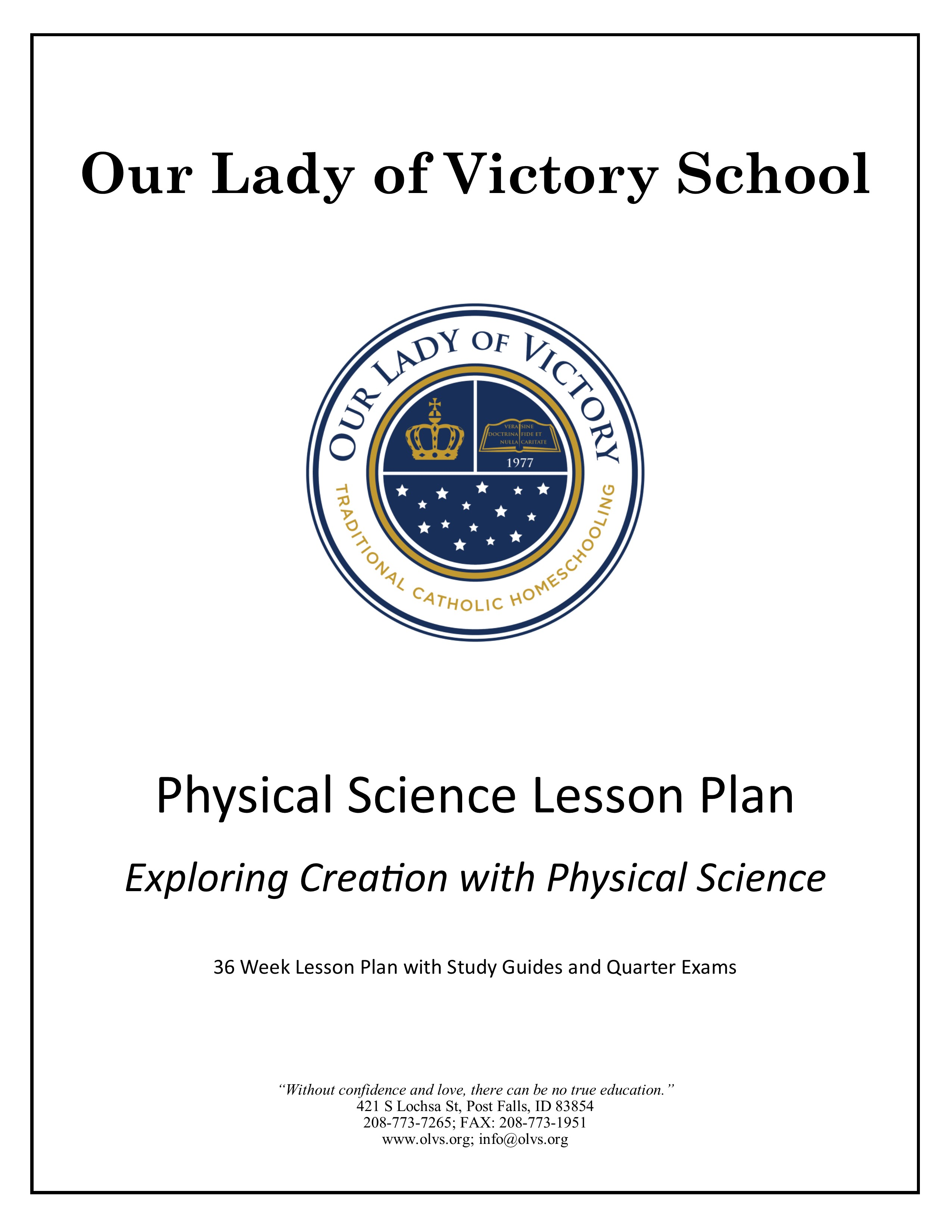 Lesson Plans Grade 09 Physical Science Our Lady Of Victory School