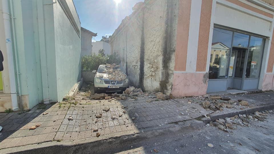 Σαμος Σεισμός: Οι πρώτες φωτογραφίες από τις ζημιές στο νησί
