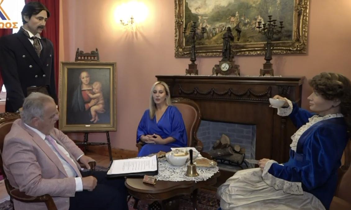 Η Κορίνα Κομπολίτη και ο Μιχάλης Βραδής στην τηλεόραση του Αχελωου