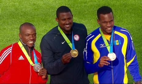 Shane Brathwaite bronze medal 100m hurdles BIMSHIRE PIC