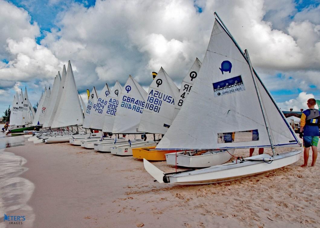 Sailors Lining up at the BOA Beach Games