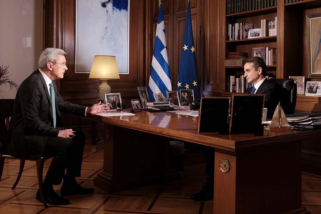 Συνέντευξη του Πρωθυπουργού Κ. Μητσοτάκη στον ANT1 και τον δημοσιογράφο Ν. Χατζηνικολάου