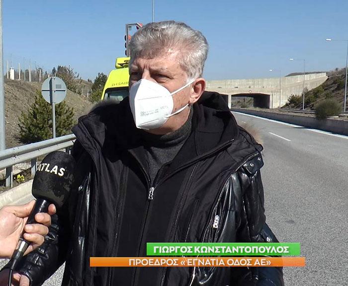 Ο Γ. Κωνσταντόπουλος στην εκπομπή POLISGREEN της ATLAS TV