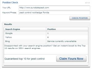 Web position checker