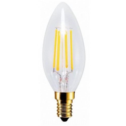 Retro Filament Led Candelabra Torpedo Light Bulb C32 Clear 4 Watt 2200k Replacement For 35 Classic