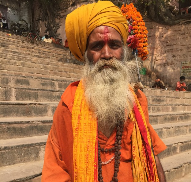 Wise man in Varanasi