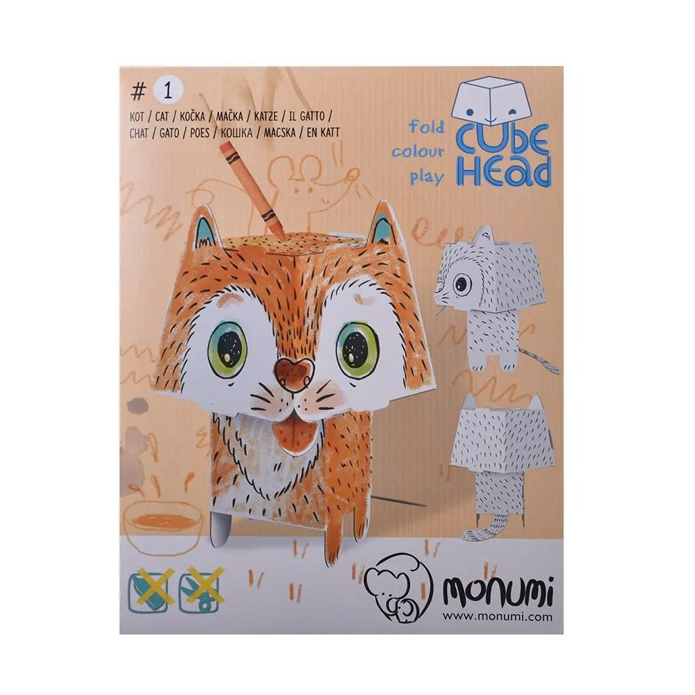Kartónové modely Monumi mačka - Oma & Luj