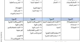 الخطة الفصلية لتوزيع المقرر رياضيات للصف الخامس الفصل الثاني 2019-2020