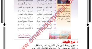 شرح قصيدة هواية لغة عربية للصف السادس الفصل الثاني
