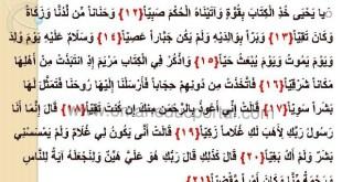 شرح درس سورة مريم 3 تربية اسلامية للصف السابع الفصل الاول