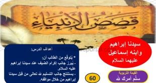 شرح درس سيدنا إبراهيم وابنه إسماعيل عليهما السلام تربية اسلامية للصف التاسع الفصل الاول