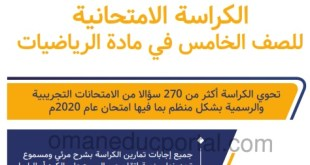 الكراسة الامتحانية في الرياضيات للصف الخامس الفصل الاول 2020-2021