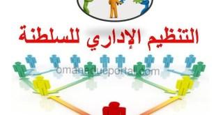 ملخص شرح درس التنظيم الإداري للسلطنة لمادة الدراسات الاجتماعية للصف الثامن الفصل الاول