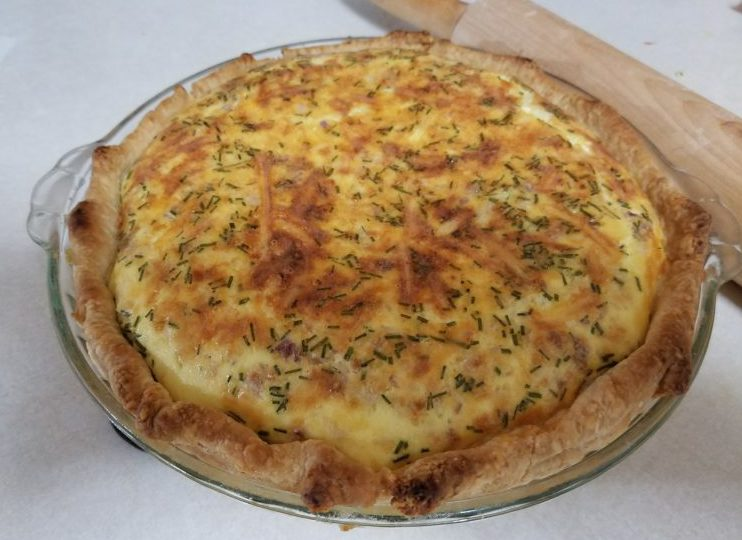 Omas Ham and cheese Quiche