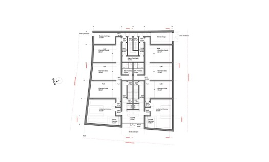 Plan RDC (Hammam)