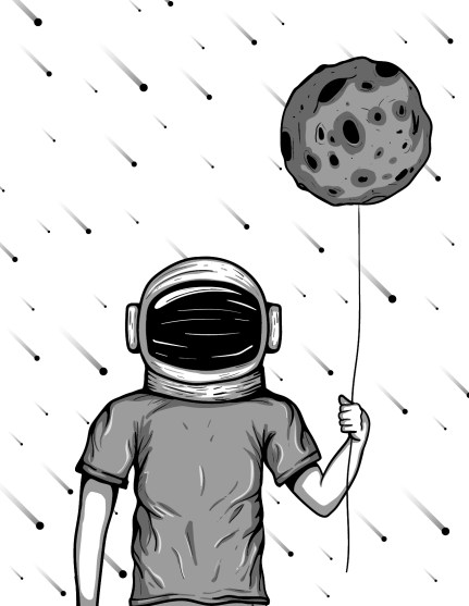 To the Moon Illustration