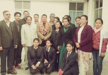 Health Minister Ram Janan Chaudhary visited OMC