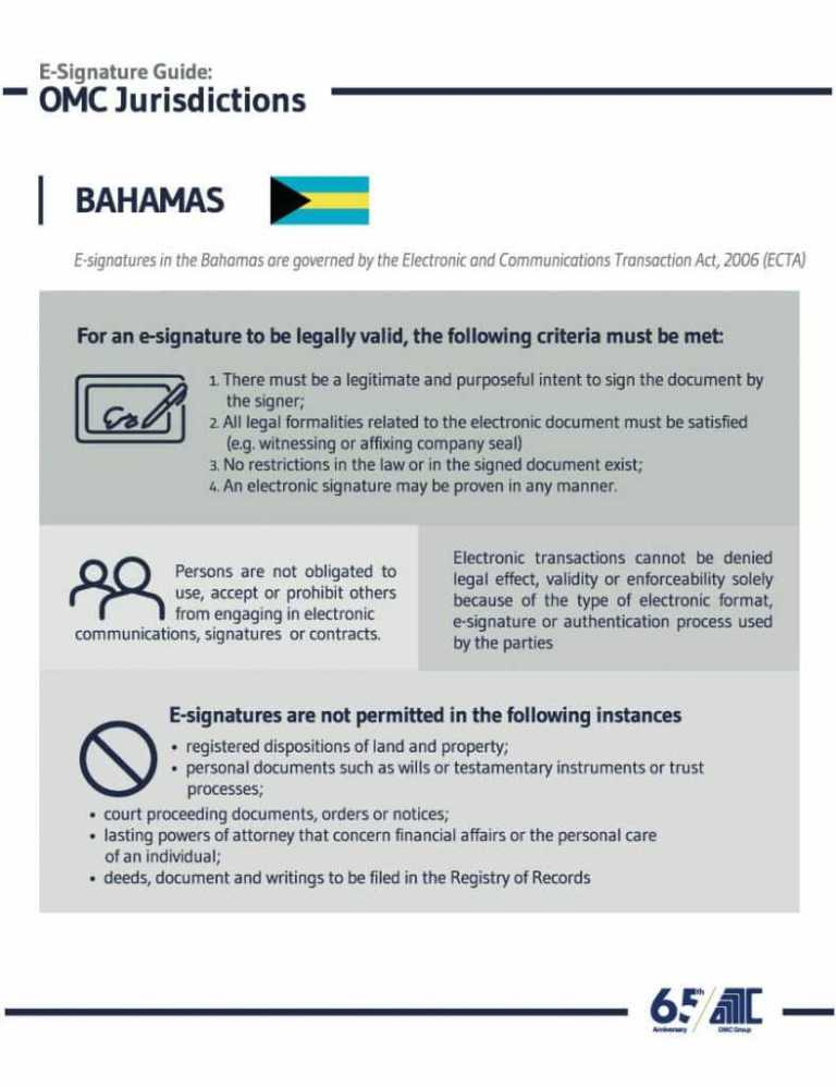 Bahama - E-Signature Guide OMC Group Jurisdictions
