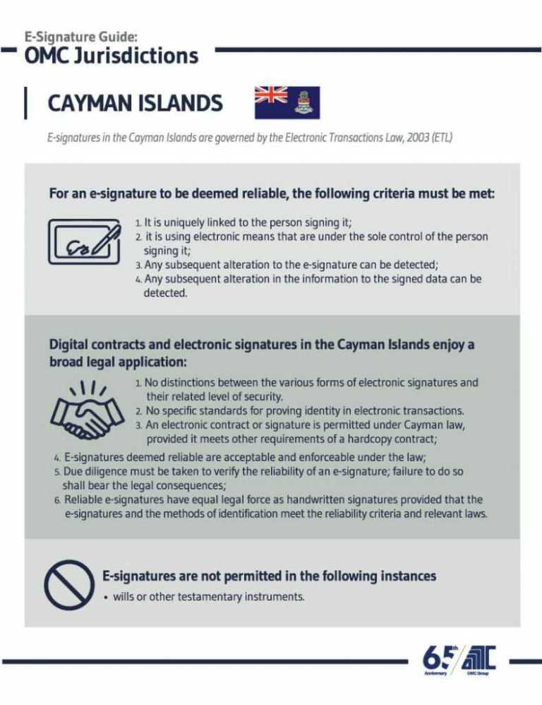 Cayman Islands - E-Signature Guide OMC Group Jurisdictions