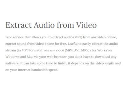 AudioExtracter上傳影片,把影片中的聲音匯出成MP3