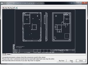 用PDF to DWG Converter,把掃描過的PDF檔,轉成DWG