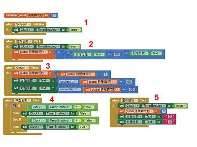 App Inventor學習記錄18,計時器(Clock)的簡單應用,倒數計時APP