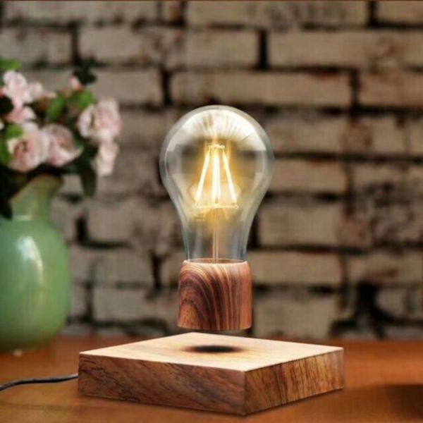 ampoule en lévitation magnétique flottante décoration intérieur