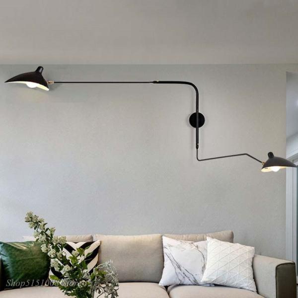 applique mural double bras designer pour intérieur moderne
