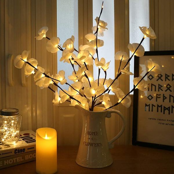 branche d'orchidée lumineuse pour décoration d'intérieur