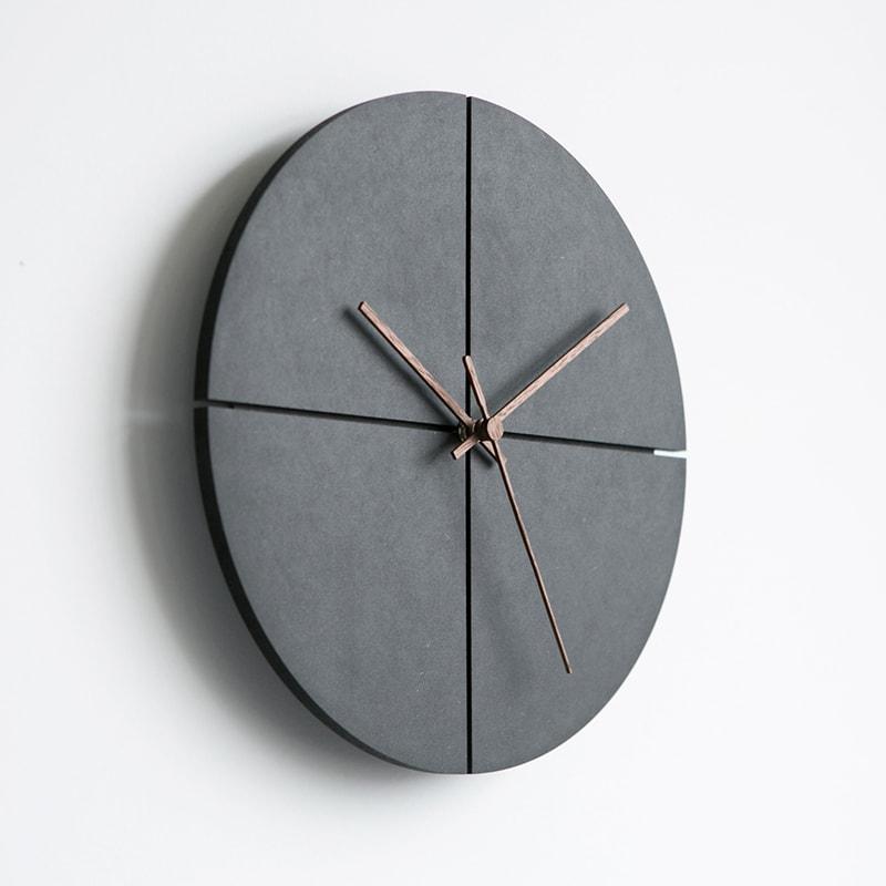horloge murale scandinave design bois noir