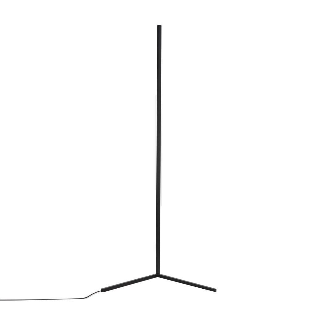 lampadaire d'angle led rvb noir pour décoration d'intérieur