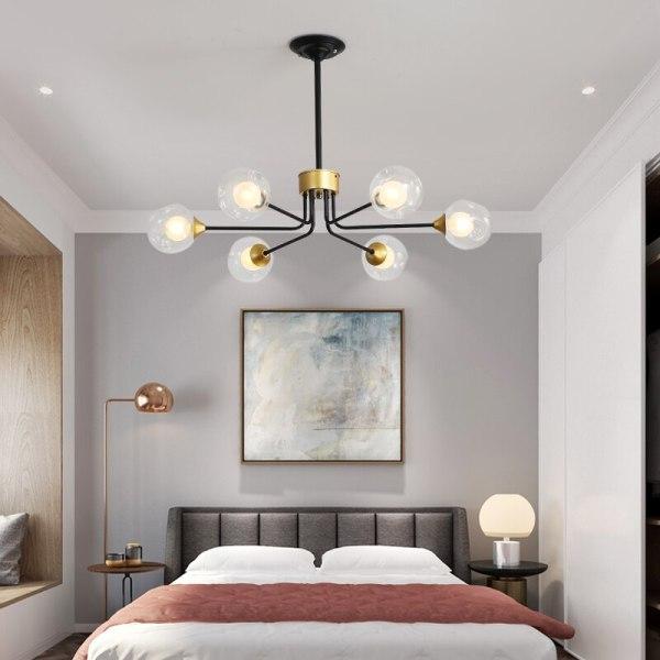Lustre chambre style chic et industriel 6 branches