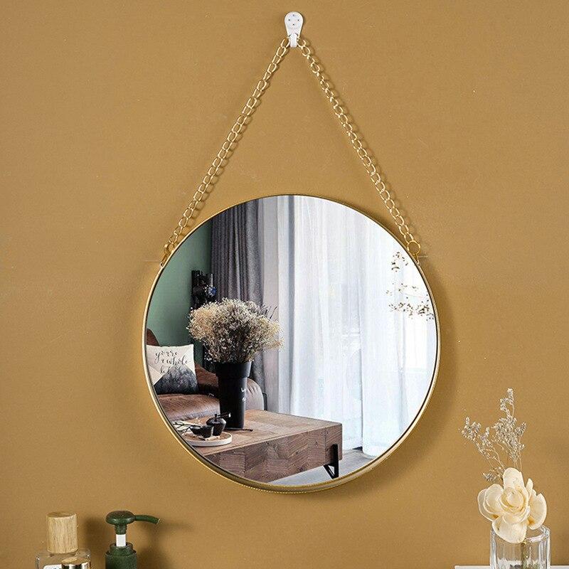 miroir de décoration murale pour intérieur scandinave et industrielle accrochée salle a manger
