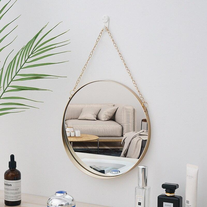 miroir de décoration murale pour intérieur scandinave et industrielle accrochée salon