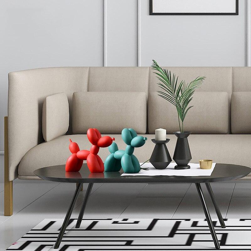 statue chien koons résine décoration table et salon pour intérieur