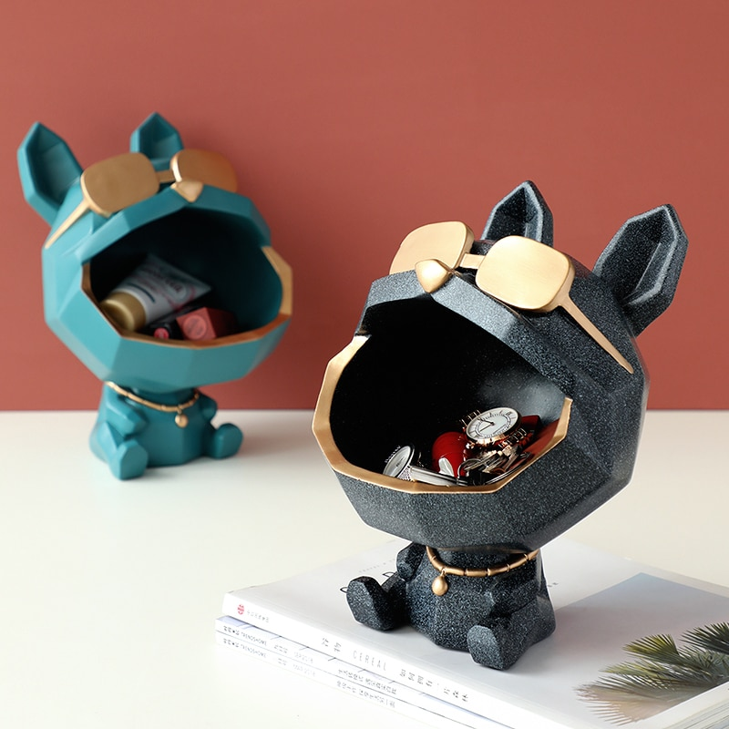 Vide poche design chien moderne vert et noir