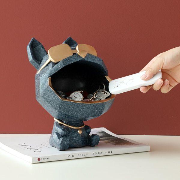 Vide poche chien origami pour décoration entrée maison