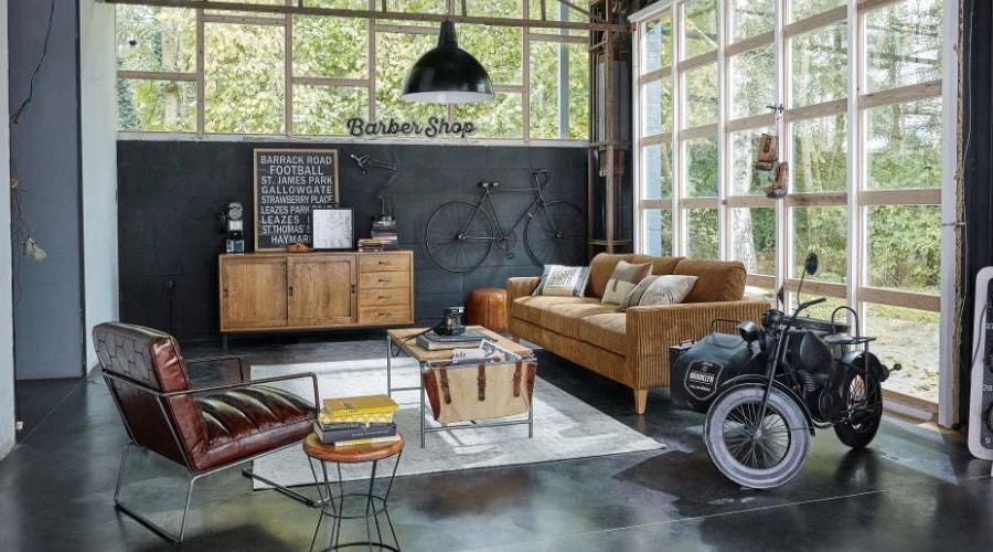 bois et métal style décoration industrielle