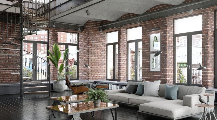 fenêtres style décoration industrielle