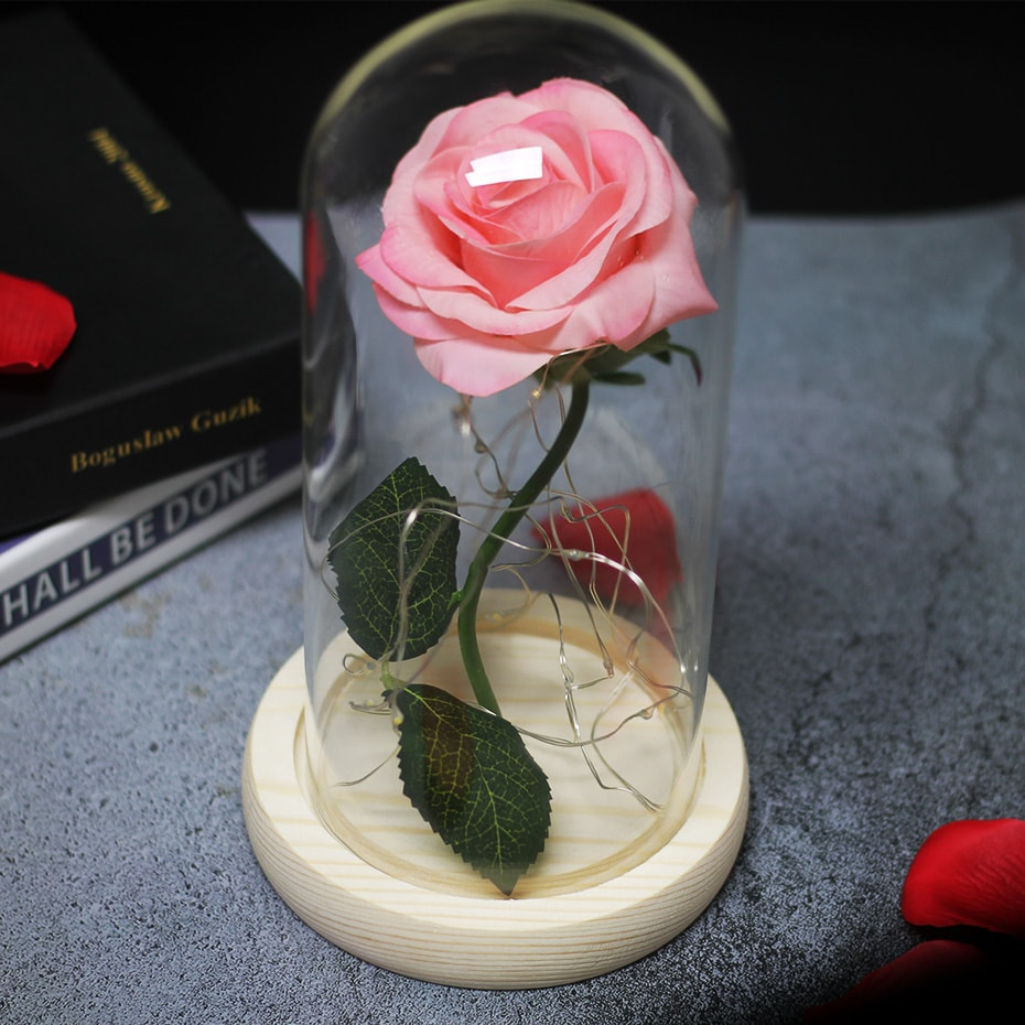 rose éternelle illuminé décoration intérieur