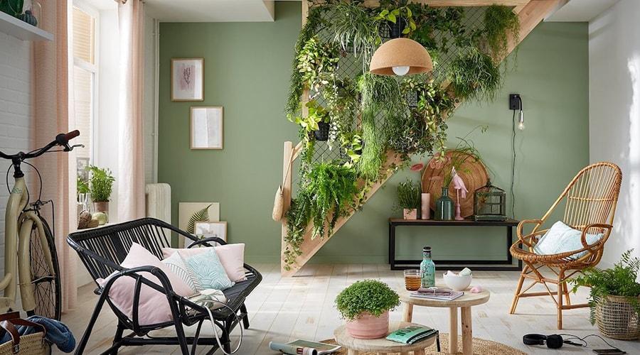 décoration intérieur relaxante plantes et verdure