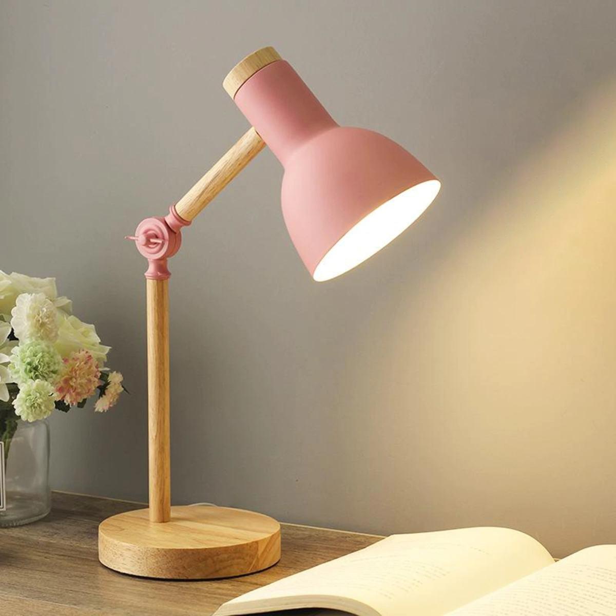 lampe de bureau scandinave ajustable rose