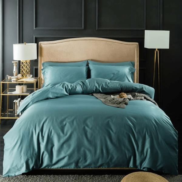 parure de lit unie en coton