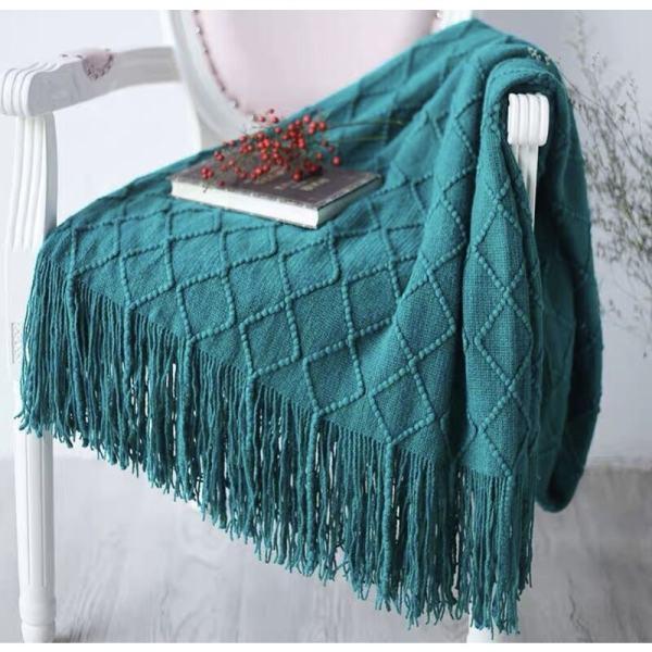 plaid tricote confort couleur vert