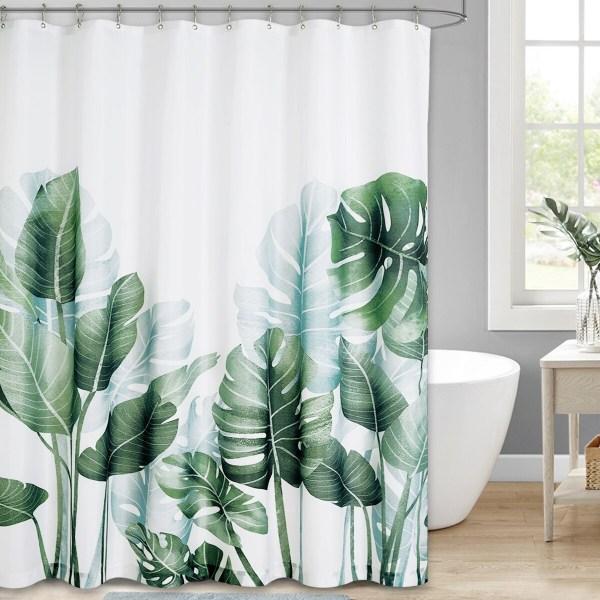 rideau de douche imprimé fleuris