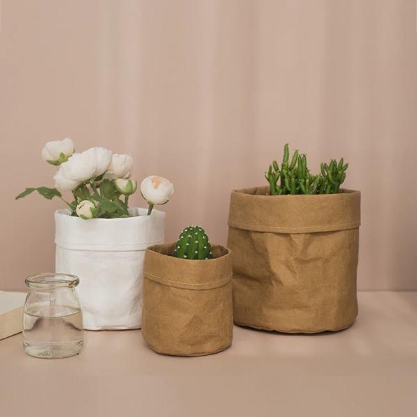 sac de rangement en papier kraft pour décoration