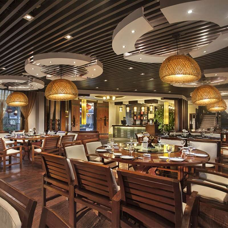 suspension en bambou artisanal décoration intérieur
