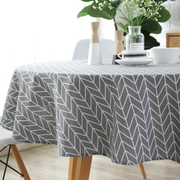 nappe ronde tendance gris style scandinave