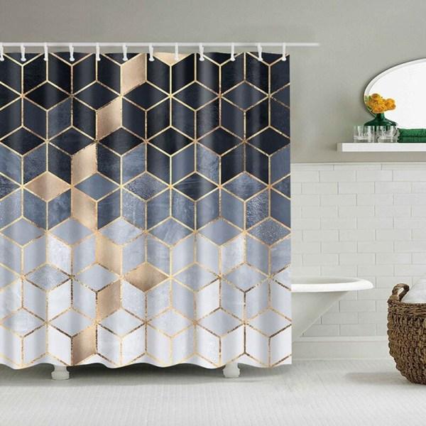 Rideau de douche avec un effet marbre couleur moderne