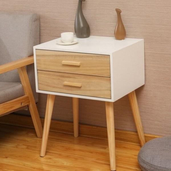 table de chevet style scandinave blanc
